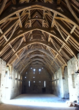 That's how to build a roof. Green oak, done by Peter McCurdy who worked on the Globe theatre reconstruction.